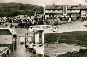 AK / Ansichtskarte Bischofsgruen Pension Hoyer Baude Landschaftspanorama Fichtelgebirge Kat. Bischofsgruen
