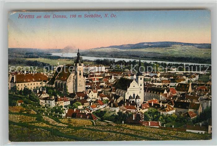 AK / Ansichtskarte Krems Donau Stadtpanorama mit Kirche Kat. Krems an der Donau