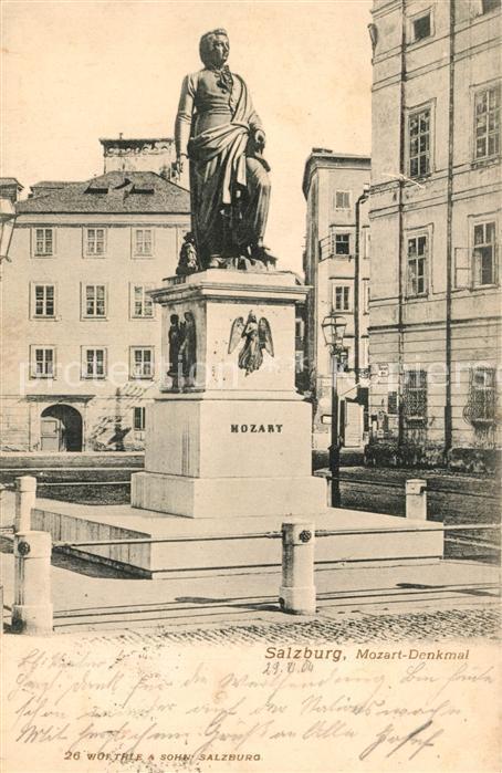 AK / Ansichtskarte Mozart Wolfgang Amadeus Denkmal Salzburg Kat. Komponist