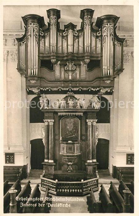 AK / Ansichtskarte Kirchenorgel Kirchheimbolanden Paulskirche  Kat. Musik