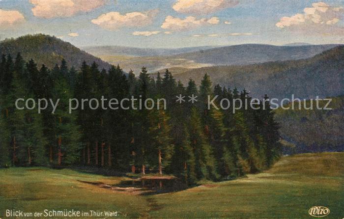AK / Ansichtskarte Verlag WIRO Wiedemann Nr. 3090 Blick von der Schmuecke Thueringer Wald  Kat. Verlage