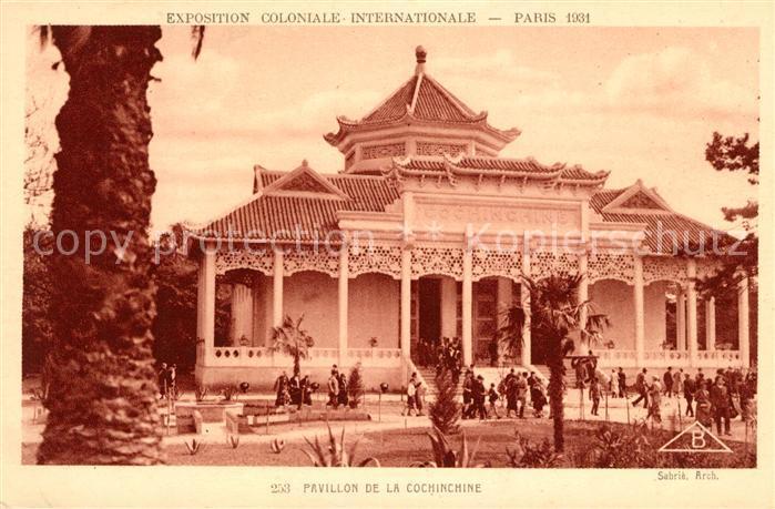 AK / Ansichtskarte Exposition Coloniale Internationale Paris 1931 Pavillon de la Cochinchine  Kat. Expositions