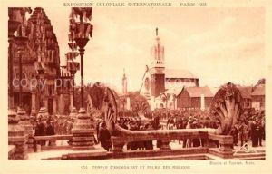 AK / Ansichtskarte Exposition Coloniale Internationale Paris 1931 Temple d Angkor Vat Palais des Missions  Kat. Expositions