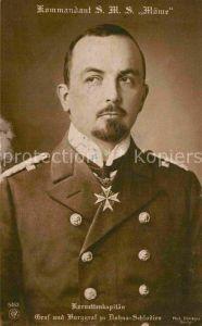 AK / Ansichtskarte Militaria Adel Kommandant S.M.S.