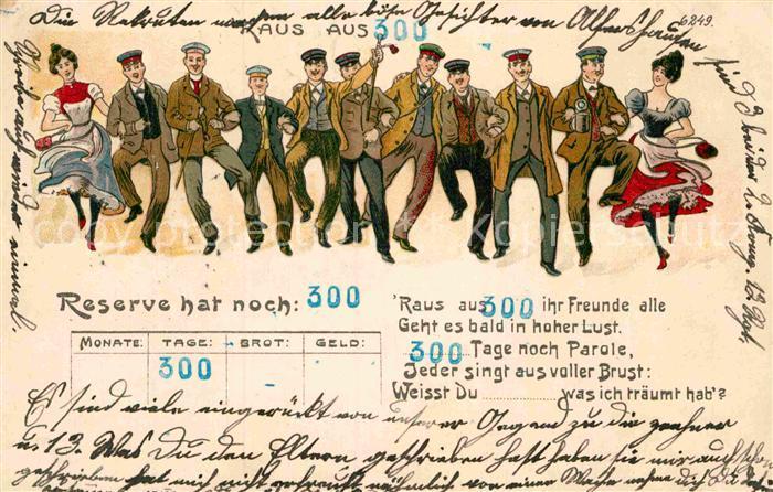 AK / Ansichtskarte Militaria Regimente Reserve Regiment Parole  Kuenstlerkarte