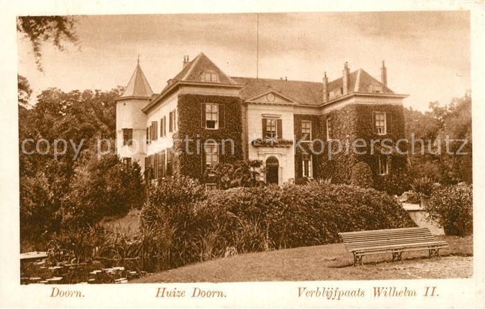 AK / Ansichtskarte Doorn Niederlande Huize Doorn Verblijfplaats Wilhelm II Kat. Utrechtse Heuvelrug