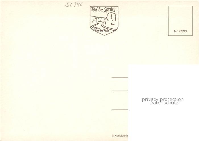 Ak Ansichtskarte Lorelei Loreley Gedicht Heinrich Heine Kat Sankt Goarshausen