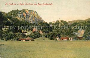 AK / Ansichtskarte Bad Reichenhall Wallfahrtskirche St Pankratz und Ruine Karlstein Kat. Bad Reichenhall