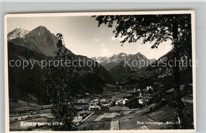 AK / Ansichtskarte Matrei Osttirol Gesamtansicht mit Alpenpanorama Kat. Matrei in Osttirol