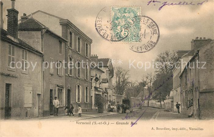 AK / Ansichtskarte Verneuil sur Seine Grande Rue Kat. Verneuil sur Seine
