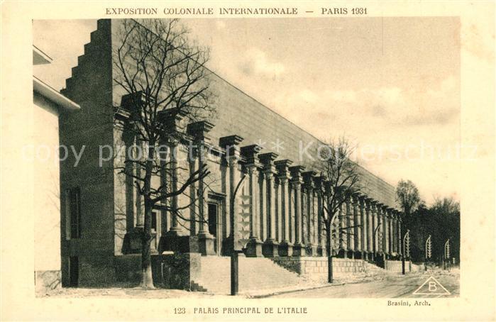 AK / Ansichtskarte Exposition Coloniale Internationale Paris 1931 Palais Principale de l Italie  Kat. Expositions