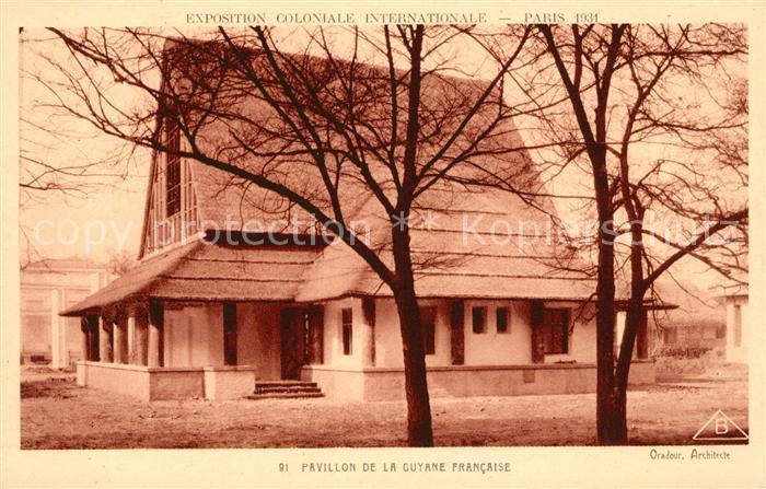 AK / Ansichtskarte Exposition Coloniale Internationale Paris 1931 Pavillon de la Guyane Francaise  Kat. Expositions