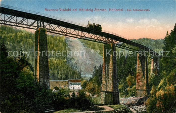 AK / Ansichtskarte Viadukte Viaduc Ravenna Viadukt Hoellsteig Sternen Hoellental  Kat. Bruecken