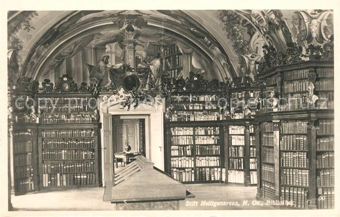 AK / Ansichtskarte Bibliothek Library Stift Heiligenkreuz  Kat. Gebaeude