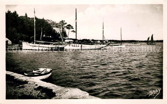 AK / Ansichtskarte Ile aux Moines Golfe du Morbihan Le Port a maree haute Kat. Ile aux Moines