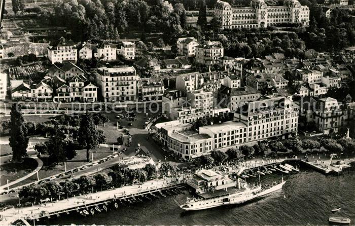 AK / Ansichtskarte Evian les Bains Haute Savoie Vue aerienne le Port et les Hotels Kat. Evian les Bains