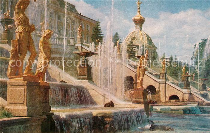 AK / Ansichtskarte Petrodvorets St Petersburg Great Cascade and Great Palace Kat.