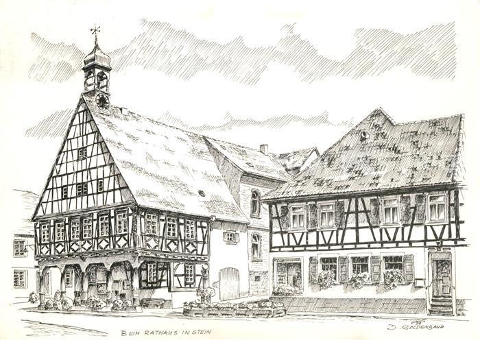 AK / Ansichtskarte Stein Rhein Beim Rathaus Zeichnung Kat. Stein Rhein
