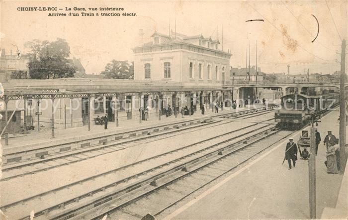 AK / Ansichtskarte Choisy le Roi La Gare Train a traction electrique Kat. Choisy le Roi