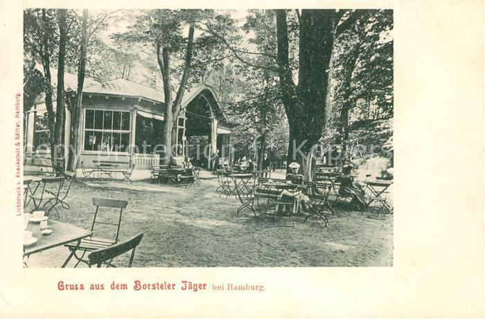 AK / Ansichtskarte Gross Borstel Hamburg Borsteler Jaeger Gaststaette Gartenrestaurant Kat. Hamburg