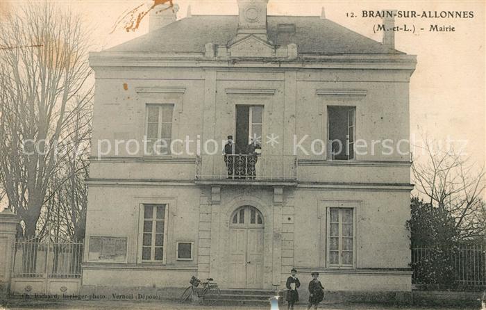 AK / Ansichtskarte Brain sur Allonnes Mairie Kat. Brain sur Allonnes
