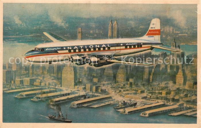 AK / Ansichtskarte Flugzeuge Zivil National Airlines Airline of the Stars Kat. Airplanes Avions