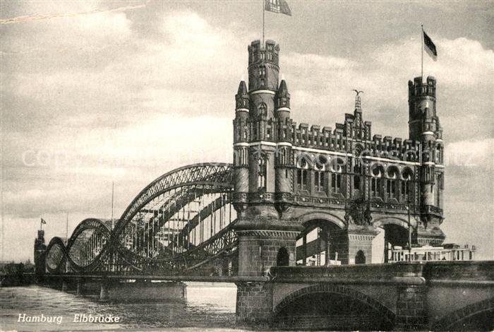 AK / Ansichtskarte Bruecken Bridges Ponts Hamburg Elbbruecke