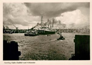 AK / Ansichtskarte Dampfer Oceanliner Hamburg Hafen Kuhwerder  Kat. Schiffe