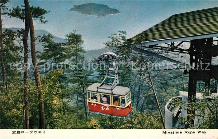 AK / Ansichtskarte Seilbahn Miyajima Rope Way Japan Kat. Bahnen