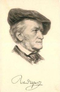 AK / Ansichtskarte Wagner Richard Komponist  Kat. Musik