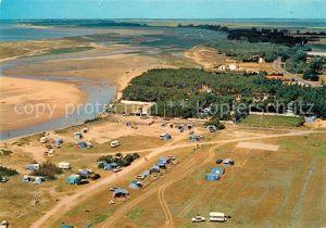 AK / Ansichtskarte La Faute sur Mer Fliegeraufnahme Camping des Violettes Kat. La Faute sur Mer