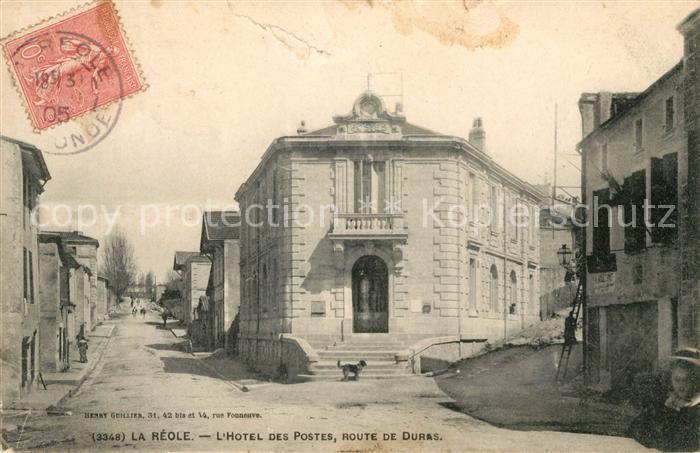 La Reole Hotel des Postes Route de Duras Kat. La Reole