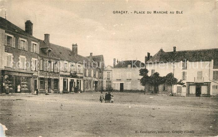 Gracay Place du Marche au Ble Kat. Gracay