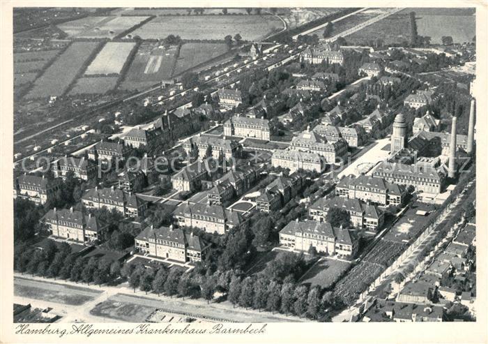 Barmbek Allgemeines Krankenhaus Fliegeraufnahme Kat. Hamburg