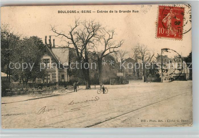 Boulogne sur Seine Entree de la Grande Rue Kat. Boulogne Billancourt