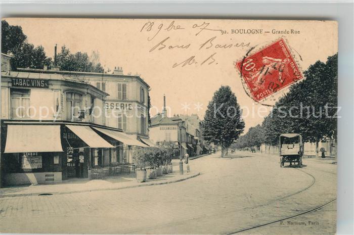 Boulogne sur Seine Grande Rue Kat. Boulogne Billancourt