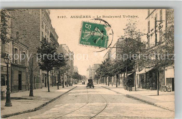 Asnieres sur Seine Boulevard Voltaire Kat. Asnieres sur Seine