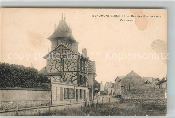 Beaumont sur Oise Rue des Quatre Vents vue ouest Kat. Beaumont sur Oise