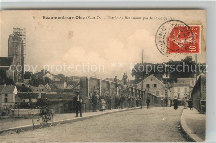 Beaumont sur Oise Entree de la ville par le Pont de Fer Kat. Beaumont sur Oise