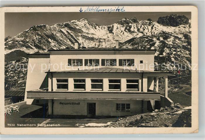Nebelhorn Bergstation Wintersportplatz Alpen Kat. Oberstdorf