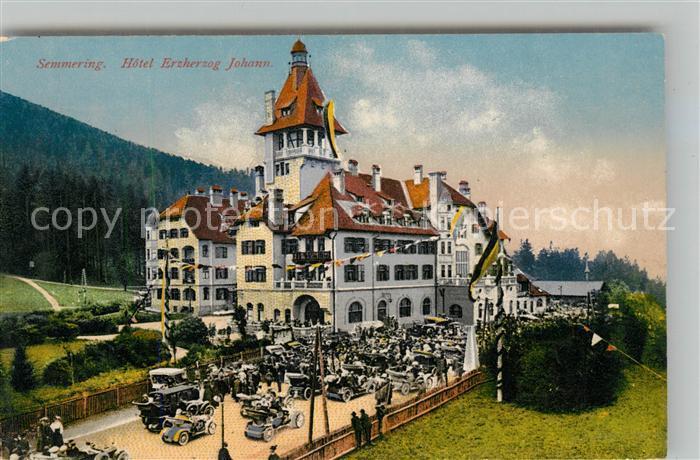 Semmering Niederoesterreich Hotel Erzherzog Johann Photochromiekarte Nr 10281 Kat. Semmering
