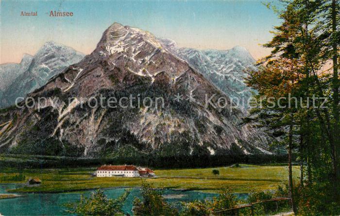 Almsee Landschaftspanorama Almtal Alpen Kat. Gruenau im Almtal Salzkammergut