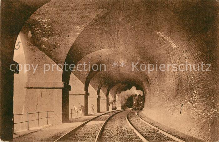Semmering Niederoesterreich Semmeringbahn Weinzetteltunnel Eisenbahn Dampflokomotive Kat. Semmering