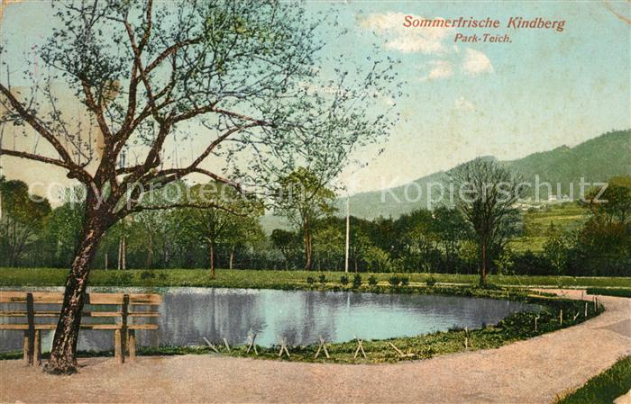 Kindberg Sommerfrische Park Teich Kat. Kindberg