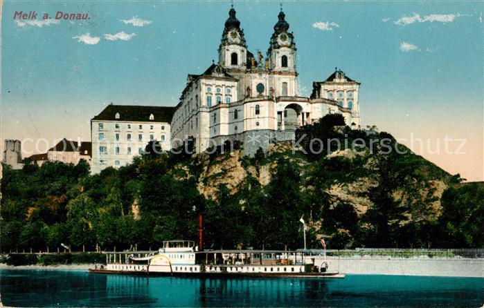 Melk Donau Dampfer Kloster Stift Kirche Donauschifffahrt Kat. Melk Wachau