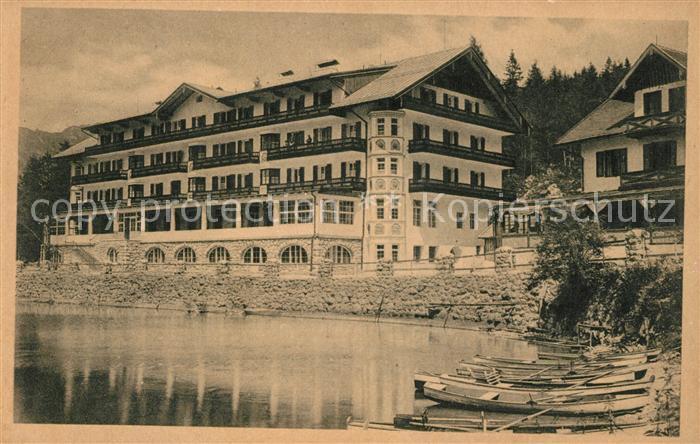 AK / Ansichtskarte Eibsee Hotel und Pension Eibsee Kat. Grainau