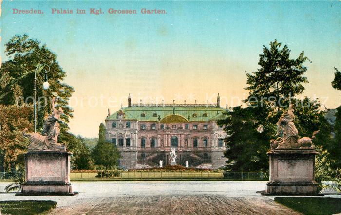 AK / Ansichtskarte Dresden Palais im Kgl Grossen Garten Kat. Dresden Elbe