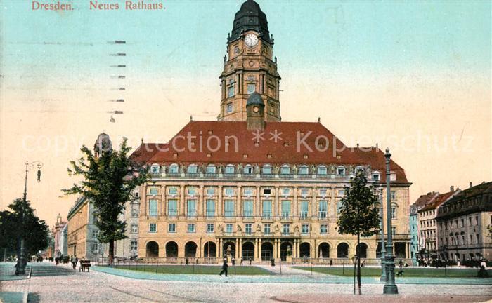 AK / Ansichtskarte Dresden Neues Rathaus Kat. Dresden Elbe