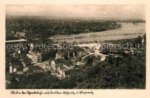 AK / Ansichtskarte Dresden Fliegeraufnahme mit Loschwitz und Blasewitz Kat. Dresden Elbe