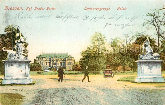 AK / Ansichtskarte Dresden Kgl Grosser Garten Centaurengruppe Palais Kat. Dresden Elbe